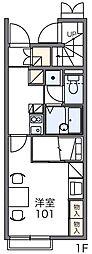 レオパレスメルベーユ[1階]の間取り