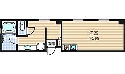クレアジオーネ中之島西[4階]の間取り