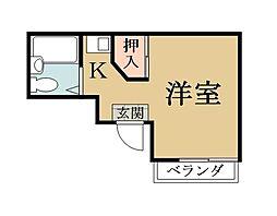 アート吉田[102号室]の間取り