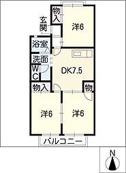 アーバンライフ瀬戸口[2階]の間取り