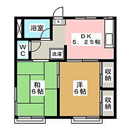 小田島アパート[2階]の間取り