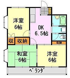 千葉県千葉市中央区末広2丁目の賃貸マンションの間取り