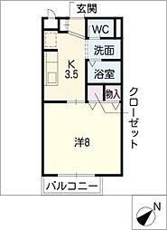 Surplus One富川[1階]の間取り
