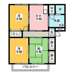 グランデージToga[2階]の間取り