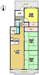 T・メゾンシャルマントIII[4階]の間取り