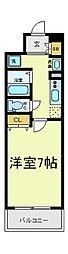 ビーバープレイス四天王寺[9階]の間取り