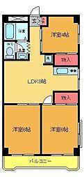 パレ ヤマトク[2階]の間取り