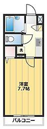 センチュリーコート本川越[202号室]の間取り
