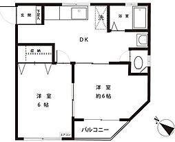 東京都板橋区志村1丁目の賃貸マンションの間取り