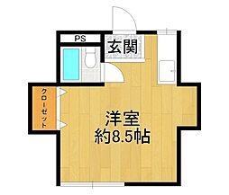 兵庫県宝塚市千種2丁目の賃貸アパートの間取り