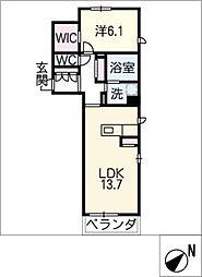 サンフラット高松[2階]の間取り
