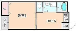 ローレル3番館[1階]の間取り