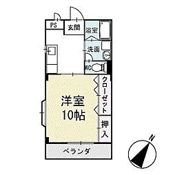 プレステージ明下 3階[306号室]の間取り