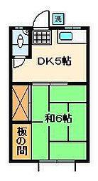 牧野荘[1階]の間取り