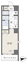 (仮)大田区大森北二丁目計画 6階1Kの間取り