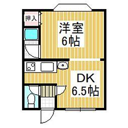 ノースコート01[1階]の間取り