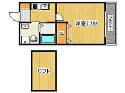 兵庫県神戸市灘区記田町5丁目の賃貸マンションの間取り