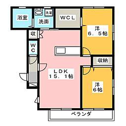 CASA FELICE[1階]の間取り
