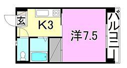 第77杉フラット[402 号室号室]の間取り
