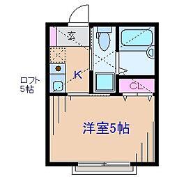 モンステラ妙蓮寺A[1階]の間取り