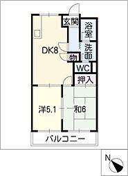 リバーサイドフジタA・B棟[1階]の間取り