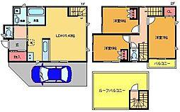 [一戸建] 東京都葛飾区水元2丁目 の賃貸【/】の間取り