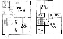 [一戸建] 福岡県宗像市三郎丸3丁目 の賃貸【/】の間取り