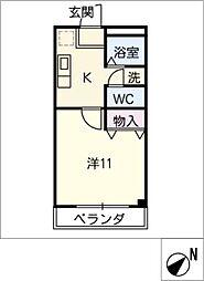 エクセル二村台[3階]の間取り