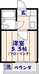 アーテム西船[102号室]の間取り