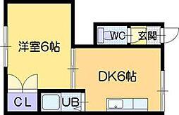 シャレード藤G棟[3階]の間取り