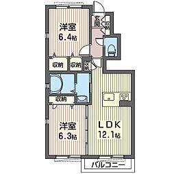 仮称 越戸2丁目シャーメゾン[1階]の間取り