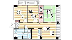 メゾン・パティオ住道[4階]の間取り