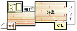 第1マンション アトラス[6階]の間取り