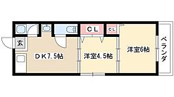 高砂ビレッジ[2階]の間取り