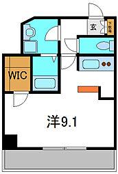 京阪本線 土居駅 徒歩3分の賃貸マンション 5階1Kの間取り