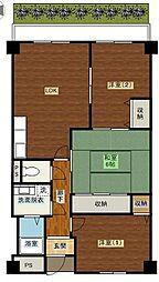 ルミネノヴァ菊田[102号室]の間取り