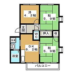 in ひもろぎ[2階]の間取り