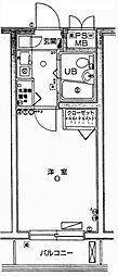 クレッセント川崎[2階]の間取り