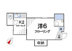 篠原邸[2W号室]の間取り