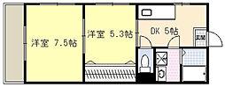 高知県高知市愛宕山の賃貸マンションの間取り