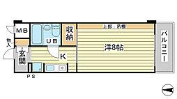 O−6マンション(学生)[402号室]の間取り