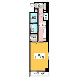 ジュネストラント[3階]の間取り