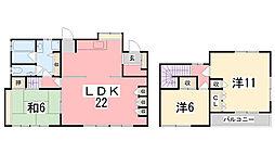 [一戸建] 兵庫県姫路市土山6丁目 の賃貸【/】の間取り