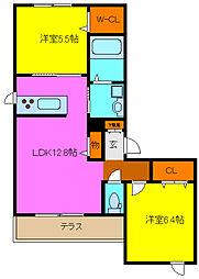 Esperanza・UII[2階]の間取り