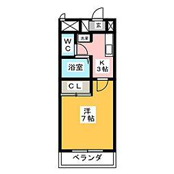 アメニティ鶴里[3階]の間取り