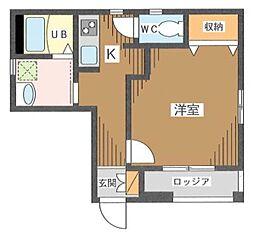 東京都江東区亀戸9丁目の賃貸マンションの間取り