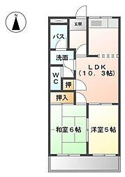 メゾンクレージュ[2階]の間取り