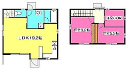 [一戸建] 埼玉県所沢市西住吉 の賃貸【/】の間取り