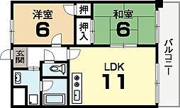 サンステージ15[1階]の間取り