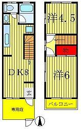 [一戸建] 千葉県松戸市八ヶ崎3丁目 の賃貸【/】の間取り